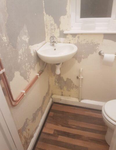 Unfinished Bathroom Sink